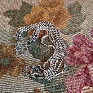 David Yurman Three-Row Box Chain Necklace 3.6mm